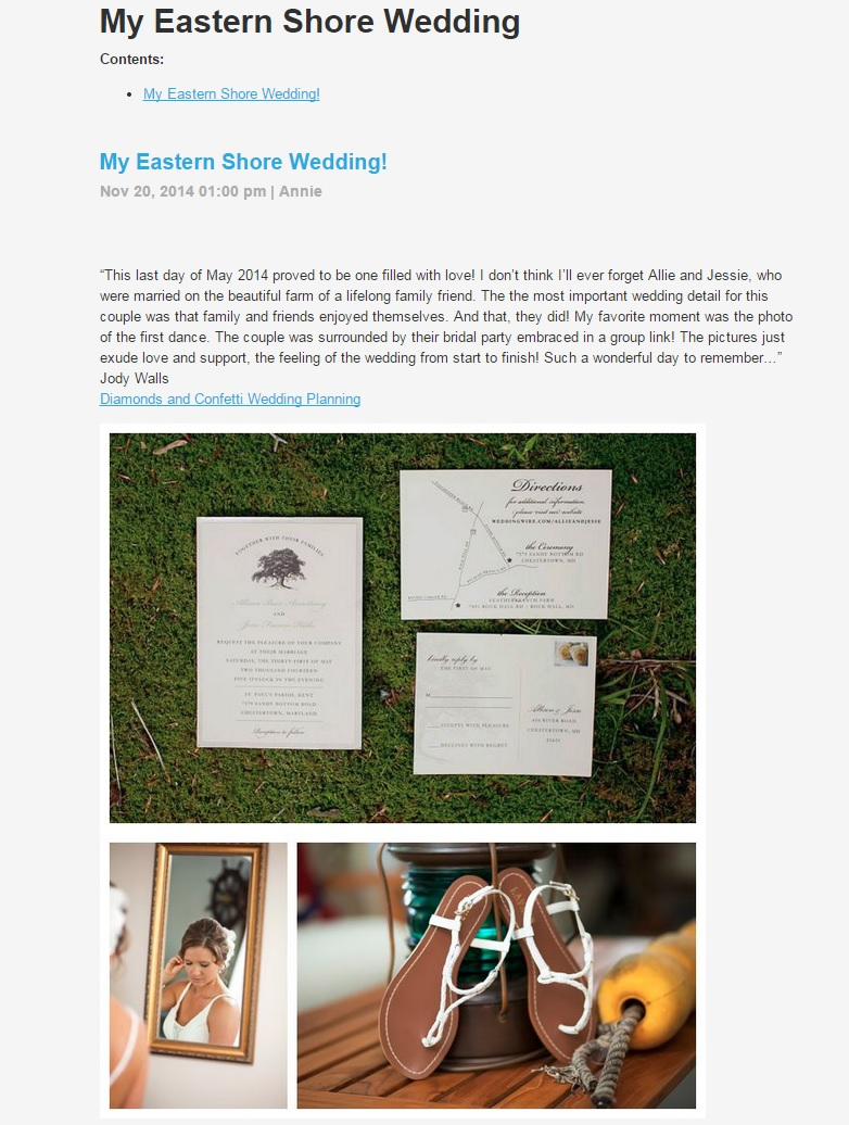 My eastern shore wedding dunks photo published for How to get my photographs published