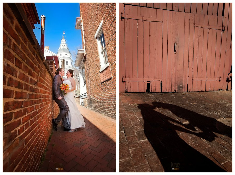 annapolis courthouse wedding dunks photo