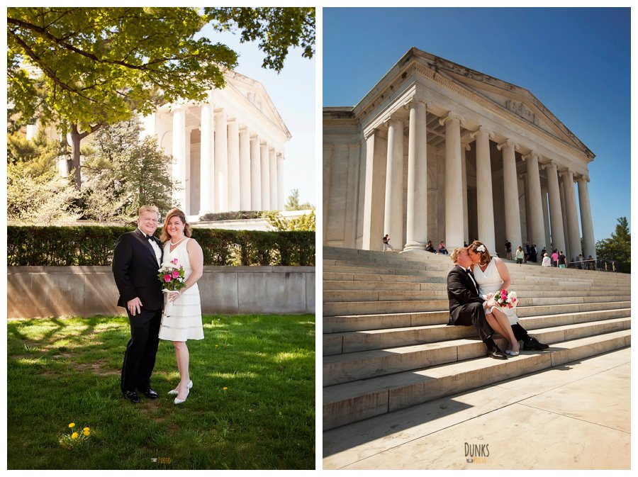 National Mall Wedding Jefferson Memorial Wedding