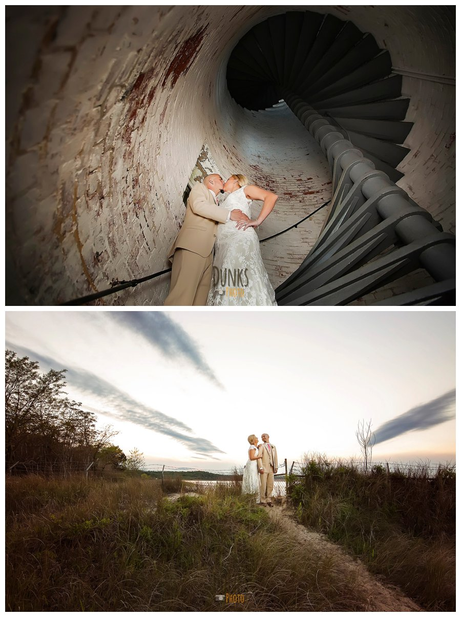 Cove Point Lighthouse Wedding Samantha Paul Dunks Photo