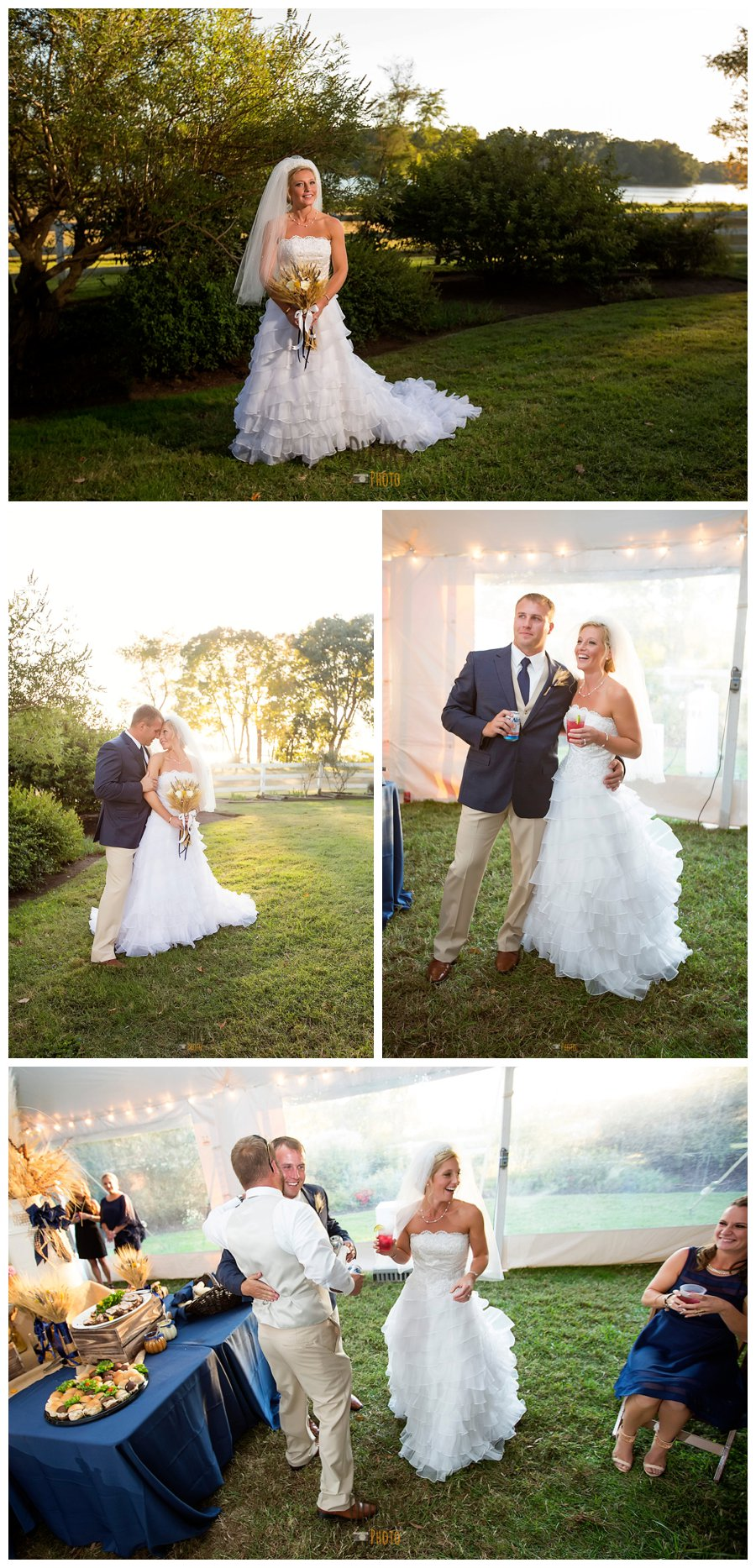 Eastern Shore Wedding Photographer Dunks Photo